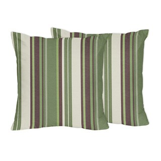 Sweet Jojo Designs Green and Brown Ethan Collection Throw Pillows (Set of 2)