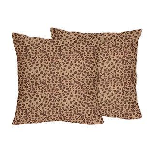 Sweet Jojo Designs Cheetah Animal Collection Throw Pillows (Set of 2)