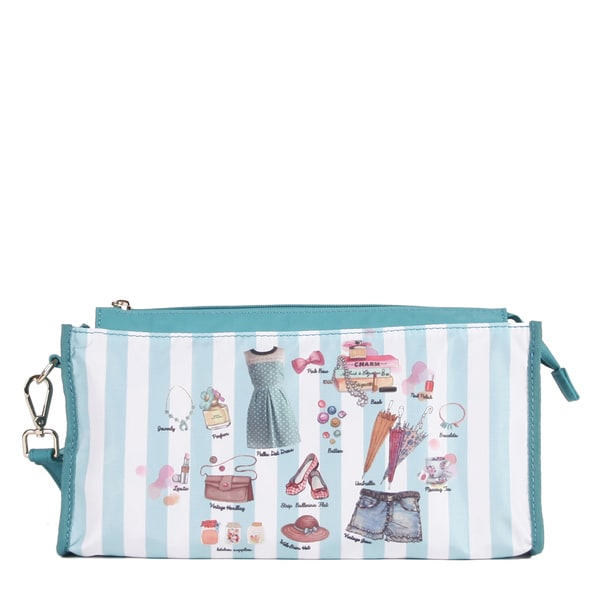 Nicole Lee Catriona Exclusive Doll House Blue Print Organizer