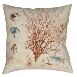 Coral Medley 19-inch Indoor/ Outdoor Throw Pillow
