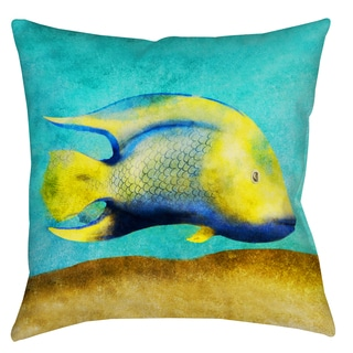 Tropical Fish 19-inch Indoor/ Outdoor Throw Pillow