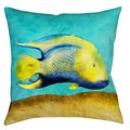 Tropical Fish 19-inch Indoor/ Outdoor Throw Pillow
