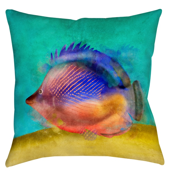 Tropical Fish II 19-inch Indoor/ Outdoor Throw Pillow 12946172