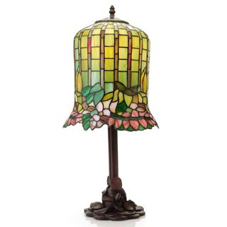 Warehouse of Tiffany 1-light Floral-inspired Bell Table Lamp