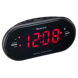 Bluetooth 1.2-inch LED Clock Radio