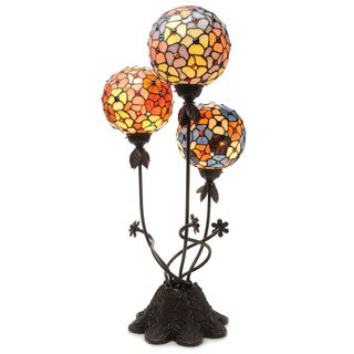 Warehouse of Tiffany Spherical Luminaria 3-light Table Lamp