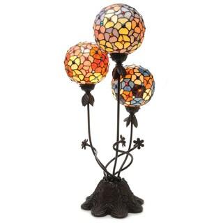 Warehouse of Tiffany Spherical Luminaria 3-light Table Lamp