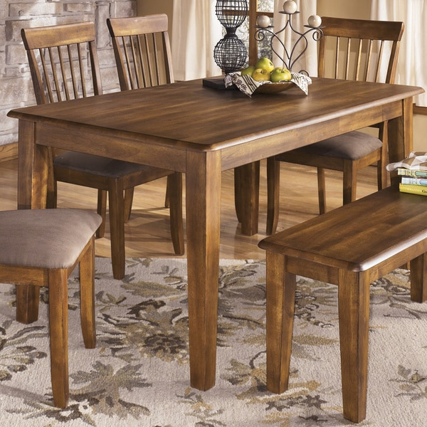 Design By Ashley 39 Mestler 39 Dark Brown Rectangular Dining Room Table
