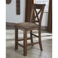 Signature Design by Ashley 'Waurika' Medium Brown Upholstered Bar Stool (Set of 2)