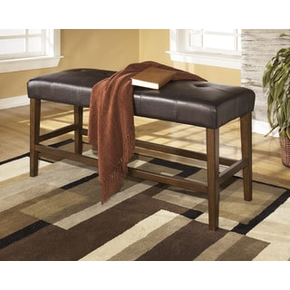 Signature Design by Ashley 'Lacey' Medium Brown and Leatherette Counter Bench