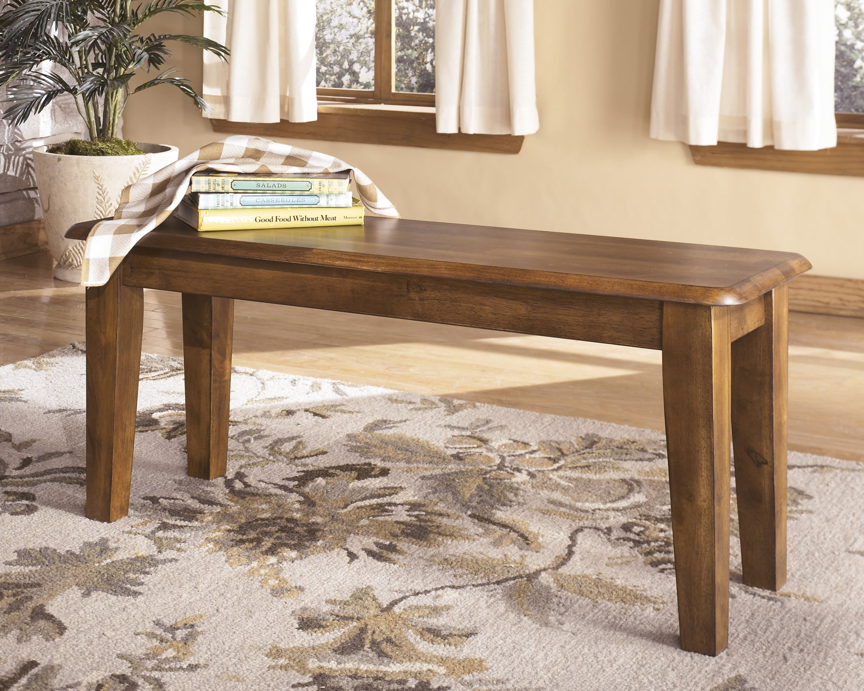 Signature Design by Ashley 'Berringer' Hickory Stained Large Dining Room Bench