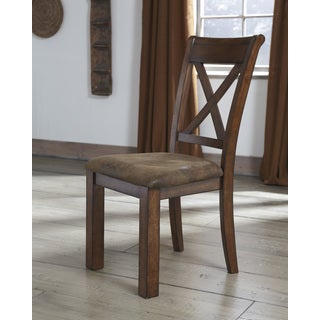 Signature Design by Ashley 'Waurika' Medium Brown X-back Dining Chair (set of 2)