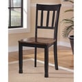Signature Design by Ashley 'Owingsville' Medium Brown/ Black Ladderback Dining Chair (Set of 2)