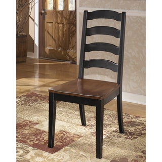 Signature Design by Ashley 'Owingsville' Medium Brown/ Black Wood Dining Chair (Set of 2)