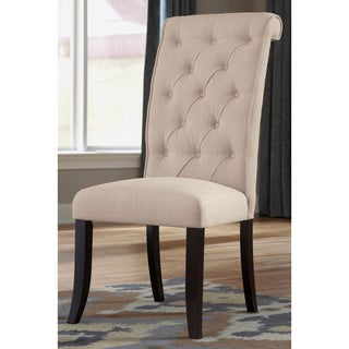 Signature Design by Ashley 'Tripton' Linen Button-tufted Transitional Dining Chair (Set of 2)
