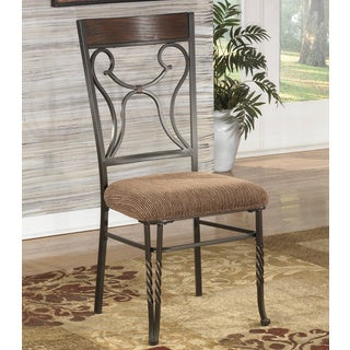 Signature Design by Ashley 'Sandling' Dark Brown and Bronze Side Chair (Set of 2)