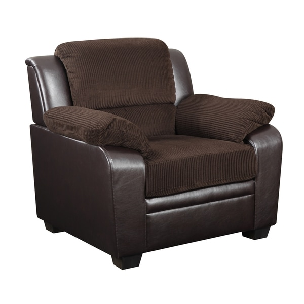 Chocolate Brown Corduroy Chair