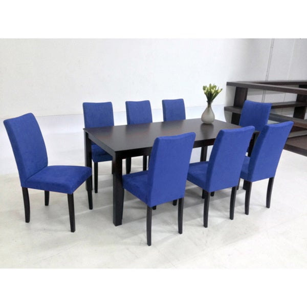 Details About 9 Piece Blue Juno Table Dining Set Furniture Chairs Room