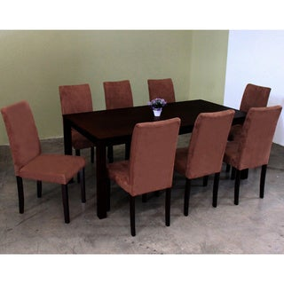 Warehouse of Tiffany 9-piece Brown Juno Table Dining Set