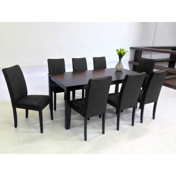 Warehouse of Tiffany 9-piece Black Juno Table Dining Set