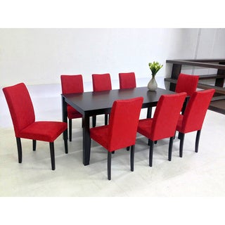 Warehouse of Tiffany 9-piece Red Juno Table Dining Set