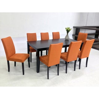 Warehouse of Tiffany 9-piece Orange Juno Table Dining Set