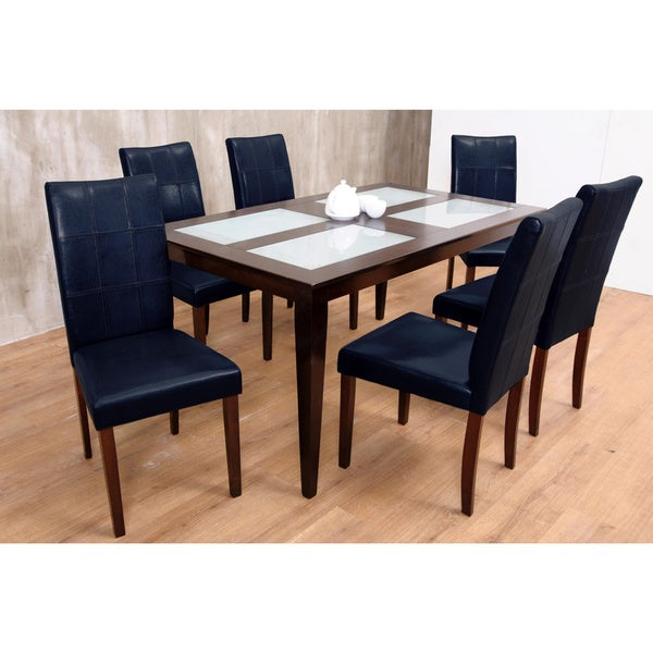 Warehouse of Tiffany Bass Black 7-piece Dining Set