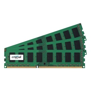 Crucial 12GB Kit (4GBx3), 240-pin DIMM, DDR3 PC3-12800 Memory Module