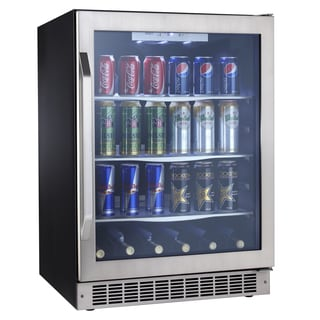 Silhouette Select Stainless Steel/ Black Beverage Center