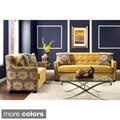 Lapovo 2-piece Living Room Set Upholstered in Premium Damask Fabric