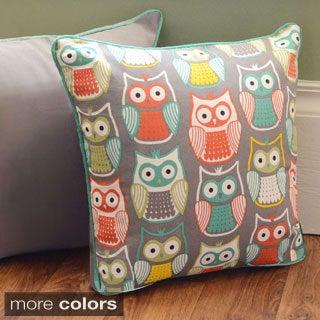 Lamont Home Square 16-inch Owl Pillow