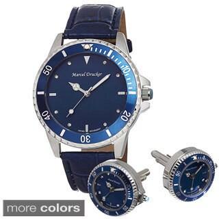 Marcel Drucker Men's Stainless Steel Watch with Cuff Links