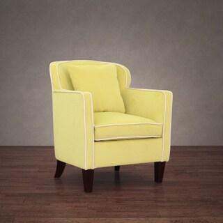 Broadway Citron Velvet Arm Chair