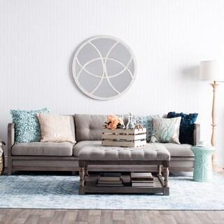 Creston 94-inch Beige Linen Sofa