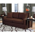 Lily Chocolate Slip Cover Sofa