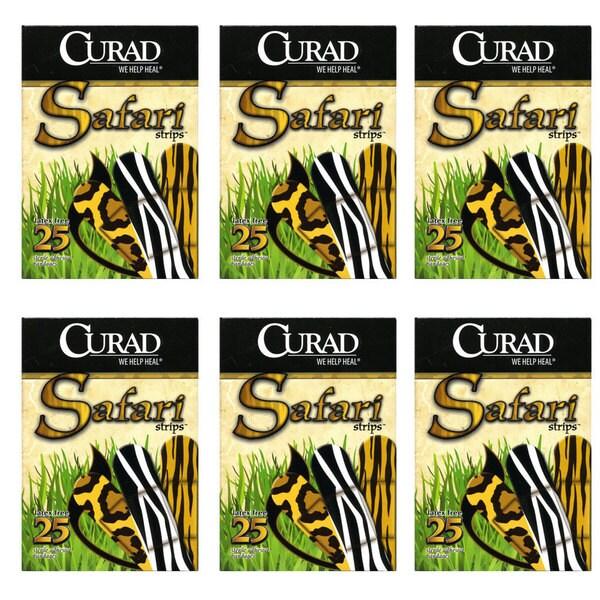 Curad Sterile Safari Strips 25-count Adhesive Bandages (Pack of 6)