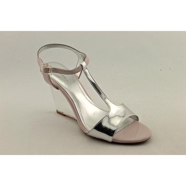 Calvin Klein Women's 'Mattie Mirror Metallic' Patent Leather Sandals (Size  9 ) 13225147