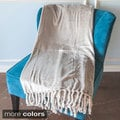 Carlisle Microplush Throw Blanket with Chunky Twisted Fringe
