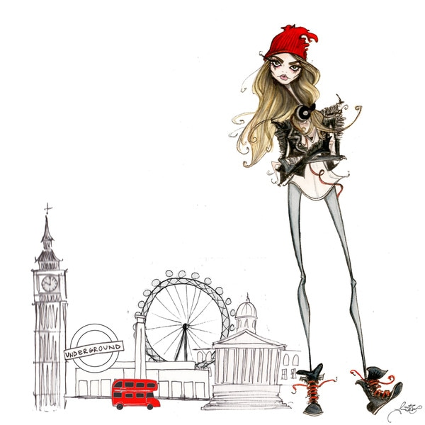 Marmont Hill Art Collective 'London Cara' Canvas Art