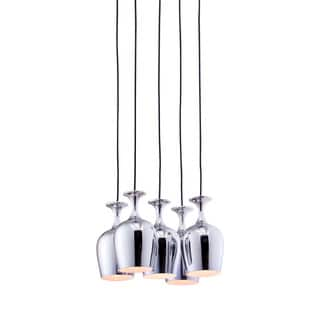 Ice Chrome 5-light Ceiling Lamp