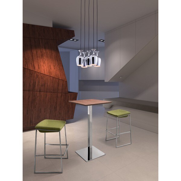 Ice Chrome 5-light Ceiling Lamp