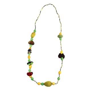Hand-crafted Golden Light Beaded Necklace (Rwanda)