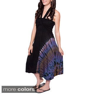 Handmade Women's Tie-dye Tube Beach Dress (Nepal)
