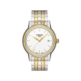 Tissot Men's T0854102201100 'Carson' White Dial Two-tone Watch