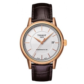 Tissot Men's 'T-Classic Powermatic' Brown Leather Watch