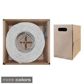 Offex 1000 ft CAT5E UTP CMP/Plenum 350MHz 24 AWG Bulk Cable