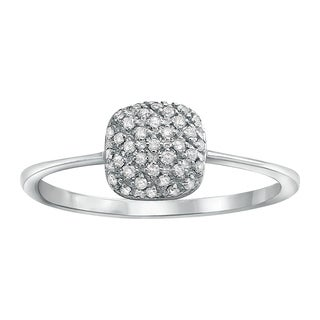 Beverly Hills Charm 10k White Gold 1/8ct TDW Diamond Ring (H-I, I2-I3)