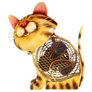 Country Cat Figurine Fan