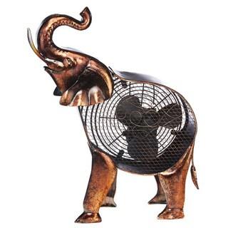 African Elephant Figurine Fan