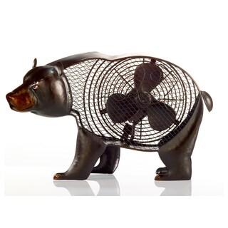 Black Bear Figurine Fan